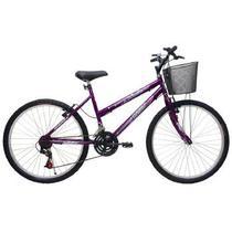 Bicicleta Feminina ARO 26 21 Marchas Bella - 310920 Roxo - Cairu