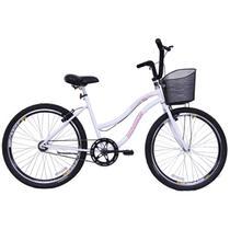 Bicicleta Feminina Aro 26 Beach Branca - Dalannio Bike