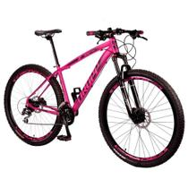 Bicicleta Feminina Aro 29 Drop Rs1 24v Freio Hidráulico Câmbio Shimano Acera Suspensão com Trava - Dropp