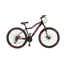 Bicicleta Feminina Aro 29 MTB Aluminio Freio a Disco Tamanho 15 - Kls