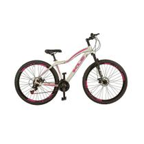 Bicicleta Feminina Aro 29 MTB Aluminio Freio a Disco Tamanho 17 KLS -