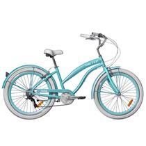 Bicicleta Feminina Beach Blitz Wind Aro 26 - Azul Turquesa -