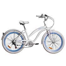 Bicicleta Feminina Beach Blitz Wind Aro 26 - Branca -