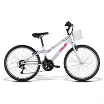 Bicicleta Feminina Caloi Ceci Aro 24 com Cesta - 21 Velocidades -