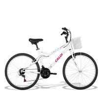 Bicicleta Feminina Caloi Ventura aro 26 Branca -