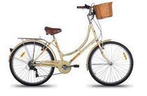 Bicicleta Feminina  Retrô aro 26  mobele 7Speed  bege -