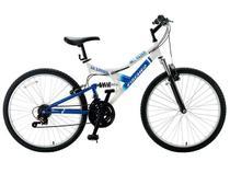 Bicicleta Fisher Hill Razer Aro 26 - 21 Marchas Dual Suspension Freio V-Brake