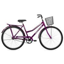 Bicicleta Free Action Paradise Aro 26 com Cesta Conta Pedal - Violeta -