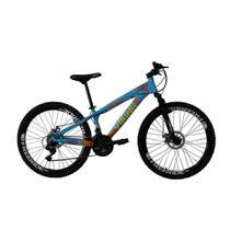 Bicicleta Freeride Aro 26 21 Velocidades Viking X Tuff25/30 Azul Laranja - Vikingx