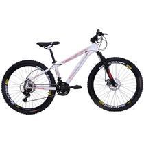 Bicicleta Freeride Aro 26 Alumínio Duplo Freio a Disco Jump Branca - Dalannio Bike