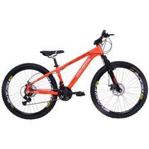 Bicicleta Freeride Aro 26 Alumínio Duplo Freio a Disco Jump Laranja Neon - Dalannio Bike