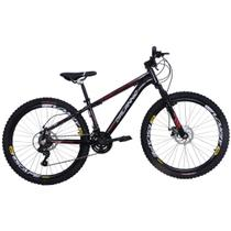 Bicicleta Freeride Aro 26 Alumínio Duplo Freio a Disco Jump Preta - Dalannio Bike