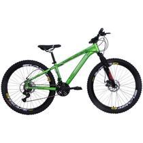 Bicicleta Freeride Aro 26 Alumínio Duplo Freio a Disco Jump Verde Neon - Dalannio Bike