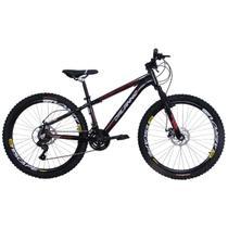 Bicicleta Freeride Aro 26 Jump Freio a Disco 21 Marchas Câmbios Shimano Preta - Dalannio Bike