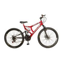 Bicicleta Full Gold Aro 26 Freio à Disco Quadro em Aço Carbono 21 Marchas KLS -
