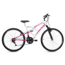 Bicicleta Fullsion Mormaii Aro 26 Freio V-Brake 18 Marchas Branco/Rosa -