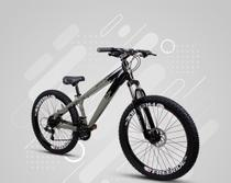 Bicicleta Gios FRX Freeride Aro 26 Freio a Disco 21 Velocidades Cambios Shimano  Gios Preto Grafitte -