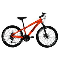 Bicicleta Gios FRX Freeride Aro 26 Freio a Disco 21 Velocidades Cambios Shimano Laranja Neon -