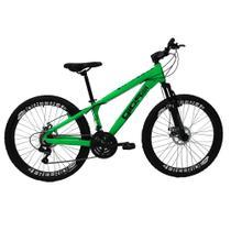 Bicicleta Gios FRX Freeride Aro 26 Freio a Disco 21 Velocidades Cambios Shimano Verde Neon -