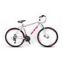 Bicicleta Gts Feel Aro 26 Freio À Disco 24 Marchas Branca -