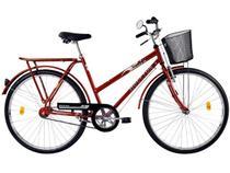 Bicicleta Houston Ônix FV com Cesta - Aro 26 Selim Largo com 2 Molas