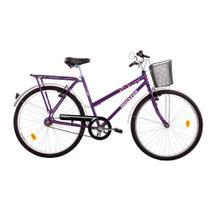Bicicleta Houston Onix Vb Freio V-brake Violeta Aro-26 C/cesta Violeta -
