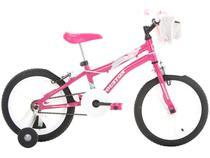 Bicicleta Houston Tina Aro 16  - Rosa Pink com Rodinhas