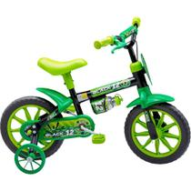 Bicicleta Infantil Aro 12 - Black 12 Nathor Verde -