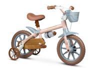 Bicicleta Infantil Aro 12 Com Rodinhas Menina Antonella Rosa - Nathor -