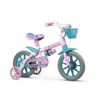Bicicleta Infantil Aro 12 Com Rodinhas Menina Charm - Nathor -