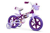 Bicicleta Infantil Aro 12 Com Rodinhas Menina Puppy Bike PU - Nathor -