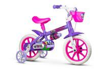 Bicicleta Infantil Aro 12 Com Rodinhas Menina Violet - Nathor -