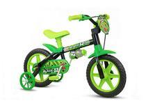 Bicicleta Infantil Aro 12 Com Rodinhas Menino Black12 - Nathor -