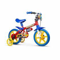 Bicicleta Infantil Aro 12 Com Rodinhas Menino Fireman Nathor -