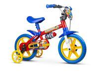 Bicicleta Infantil Aro 12 Com Rodinhas Menino Fireman - Nathor -