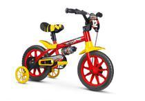 Bicicleta Infantil Aro 12 Com Rodinhas Menino Motor X PU - Nathor -