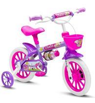 Bicicleta Infantil Aro 12 Feminina Rosa Nathor Com Cestinha -