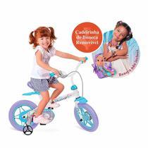 Bicicleta Infantil Aro 12 - Frozen 2 - Com Cadeirinha - Bandeirante -