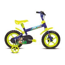 Bicicleta Infantil Aro 12 Jack Azul e Verde Limão 10445 - Verden