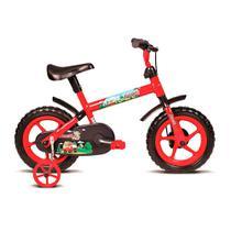 Bicicleta Infantil Aro 12 Jack Vermelho e Preto Verden Bikes -