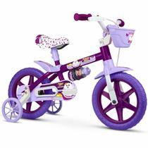 Bicicleta Infantil Aro 12 Menina Nathor - Puppy Bike -