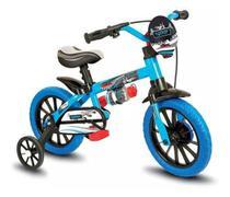 Bicicleta Infantil Aro 12 Menino Veloz Azul/preta - Nathor -