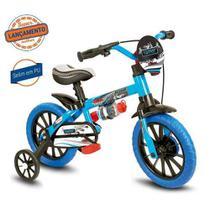 Bicicleta Infantil aro 12 Meninos Veloz Nathor Azul/Preto -