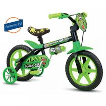 Bicicleta Infantil Aro 12 Modelo Black 12 Nathor Menino -