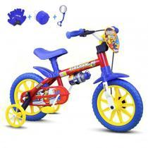 Bicicleta Infantil Aro 12 Nathor Fireman C/ Acessórios -