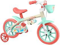 Bicicleta Infantil Aro 12 Nathor Sea Branco  - com Rodinhas