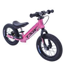 Bicicleta Infantil Aro 12 Sem Pedal Equilíbrio Balance Alumínio Rosa Tsw -