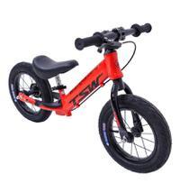 Bicicleta Infantil Aro 12 Sem Pedal Equilíbrio Balance Alumínio Vermelho Tsw -