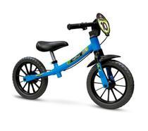 Bicicleta Infantil Aro 12 Sem Pedal Equilíbrio Balance Azul - Nathor -