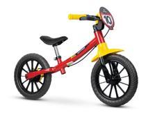 Bicicleta Infantil Aro 12 Sem Pedal Equilibrio Balance Vermelha - Nathor -